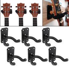 6 Stück Schwarz Gitarrenwandhalter Gitarrenständer Wandhalter Skateboardhalter