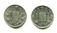 lote 2 monedas 5 PESETAS FRANCO 1949 * 19 , 50 y 19 , 49  SC las 2 de la foto