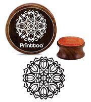 Printtoo Floral Mandala Karte, Die Aus Holz Stempel Craft Textile Briefmarken