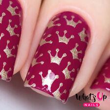 Princess Crowns Stencils for Nails, Nail Vinyls for Nail Art Design