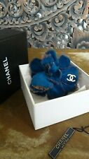 Rare Collect Chanel Velvet and Fringe Grunge Camellia Large Brooch Pin in Box