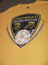 Cincinnati United Soccer, Mens Yellow/Gold Lg. T-Shirt, Short Sleeved, Pre-Owned