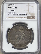 1877 TRADE DOLLAR NGC XF DETAILS CLEANED FREE SHIPPING