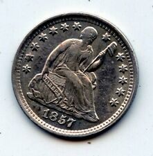 1857-p SEATED LIBERTY HALF DIME - SCARCE !! (SEE PROMO)