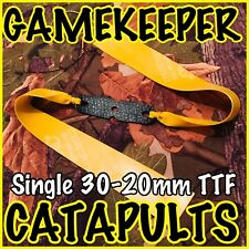 TTF GAMEKEEPER CATAPULTS SINGLE 30-20mm THERABAND GOLD SLINGSHOT ELASTIC,