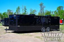 New 2021 8.5 X 24 Enclosed Cargo Race / Car Hauler Trailer Stage 2 Blackout Pkg