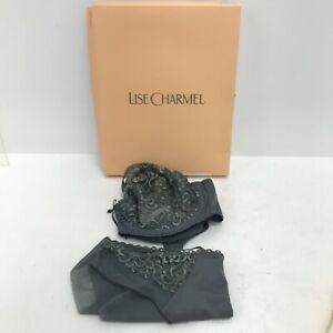 New Antinea Paris Lise Charmel Grey 32D Underwired Bra & EU 40 Briefs Set 171269