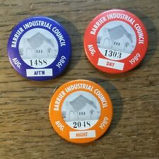 3 Australian Tin Trade Union Badges