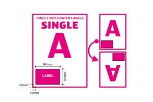 A4 Integrated Label Invoice Paper Sticky Address Sheets Single A Ebay   Amazon