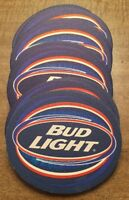 "BUD LIGHT BEER 🍺 Set of 19 UNUSED Cardboard Beverage Coasters 3.25"" X 4.25"""