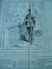 Caricature 1871 - Charcuterie Cochon couvert de Laurier Fanité te la Gloire