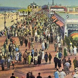 Postcard NJ Asbury Park Boardwalk from the Convention Hall Pete Vetrano 1937