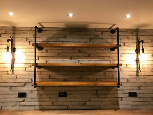 Industrial Steampunk Shelving Unit Made From Pipe and Treated Reclaimed Timber!