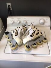 New listing Nike Zoom Air inline Roller Hockey Skates Men's Size 9.5,White,Creme NSANEWh76mm