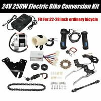 24V 250W Electric  Conversion Motor Kit + Charger For 22-28'' Ordinary Bike