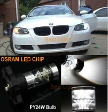 2x PY24W LED Turn Signal Lights White For   BMW E70 E71 E90 E92 F10 M3