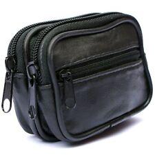 Mens Soft REAL Leather Belt Wallet Purse Pouch Bum Bag Loop Card Holder Case