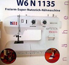 W6 N 1135 Freiarm Nähmaschine - Weiß