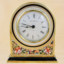 "CLIO Wedgwood Mantle Clock  Large Face 4.75"" tall NEW NEVER USED made in England"