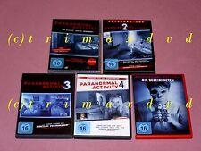 5 DVDs _Paranormal Activity 1 & 2 & 3 & 4 & Die Gezeichneten _sehr guter Zustand