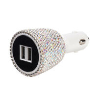 Bling LED 12V Dual USB Car Auto Charger for iPhone Samsung Android HTC LG HUAWEI