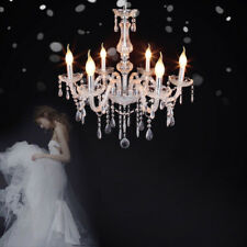 Modern Crystal Chandelier 6 Arms Ceiling Lamp Pendant Light Home Decor RIDGEYARD