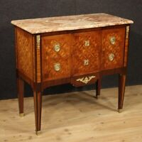 Comò cassettone in stile antico Luigi XVI cassettiera mobile 2 cassetti marmo