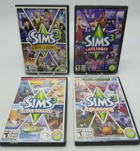 The Sims 3 PC Video Games & Expansion Packs & Stuff 4 Game Lot! All Complete CIB