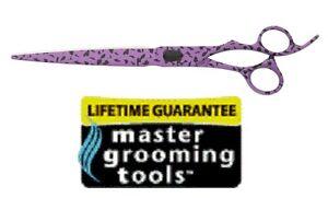 "Master Pet Grooming Professional 8.5"" Purple LEOPARD Shear Scissor&Case Dog Cat"