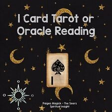 Psychic readings - intuitive 1 Card Tarot or Oracle