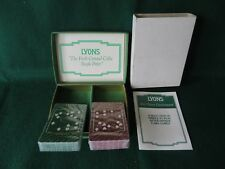 VINTAGE LYONS (COFFEE) AFTER DINNER ENTERTAINMENT PLAYING CARDS NEW WITH GAMES