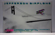 JEFFERSON AIRPLANE @ FILLMORE/1989 NEVER ROLLED/CONCERT POSTER/ARLENE OWSEICHIK