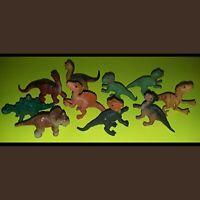 Vintage Safari Dinosaur Plastic Toy Figures Lot Old Prehistoric Jurrasic T-Rex