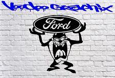 Racing Stickers Funny Car Window Bumper Ford Vinyl Sponsor Decals