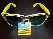 Women's Solaray Yellow Frame Sunglasses NWT UV 400 Protection