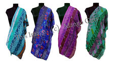 Handmade Silk Sari Recycled Scarves Stoles Patchwork scarf Wholesale Lot 10 Pcs