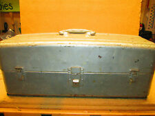 New listing Vintage 1951 Union Steel Chest 2-Tray Fishing Tackle Or Tool Box