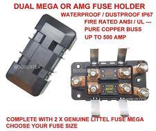 MEGA AMG FUSE HOLDER DUAL AMP WATERPROOF BATTERY KIT SYSTEM SOLAR FRIDGE CAMPER
