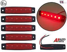 5x 24v 6 LED Lateral Delantero Trasero Marcador Rojo Luces Para El Carro Man