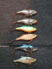 (6) Rapala Rattlin' Rap RNR07 lipless crankbaits, Lot of 6 fishing lures