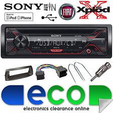 Fiat Punto MK2 1999 - 2005 SONY CD MP3 USB Aux Car Stereo Radio BLACK Fascia Kit