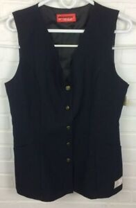 UnCommon Threads Unisex Multiple SizeGold Button Server Vest Navy Blue Lot Of 6