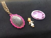 RARE VINTAGE POLLY POCKET JEWEL SURPRISE LOCKET 100% COMPLETE WITH ORIGINAL DOLL