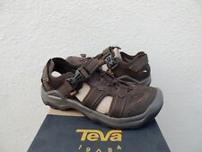 TEVA OMNIUM 2 TURKISH COFFEE LEATHER WATER SHOES SANDALS, US 8.5/ EUR 41.5 ~NIB