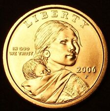 "2006 P Sacagawea Dollar US Mint Coin in ""Brilliant Uncirculated"" Condition"