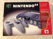 Nintendo 64 N64 Video Game Console In Box Complete CIB Tested W/ Styrofoam