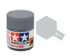 Tamiya 81511 X-11 Chrome Silver 10ml Acrylic Paint Gloss Color Mini Bottle Model