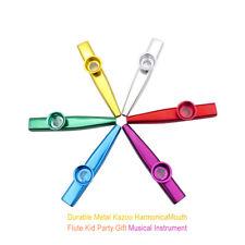 1pcs Durable Metal Kazoo Harmonica Mouth Flute Kid Party Gift Musical Instrumen