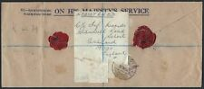 UK GB 1943 WAR TIME OHMS ARMY SIGNALS MARKING REGISTERED WITH WAX SEALS TO GHQ