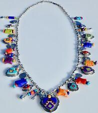 Benny & Valerie Aldrich-Aldrich Art Sterling Silver & Inlay Heart Charm Necklace
